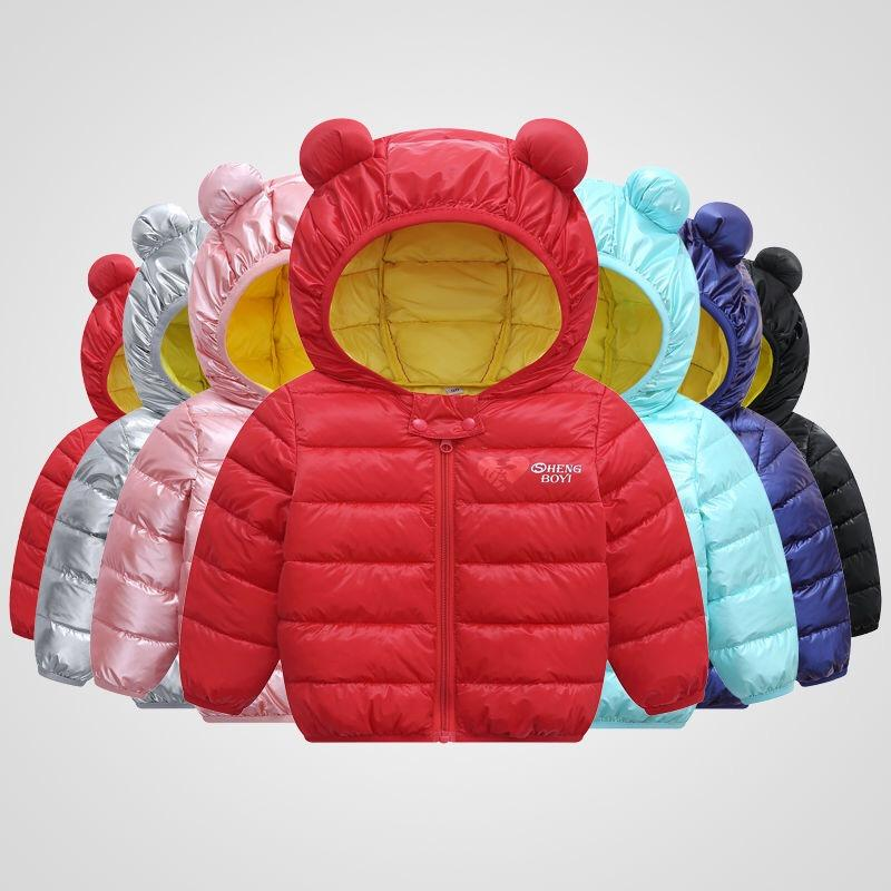 Unisex Girl Boy Kids Cotton Jacket Coat Hooded Fall Winter Warm Clothes A2