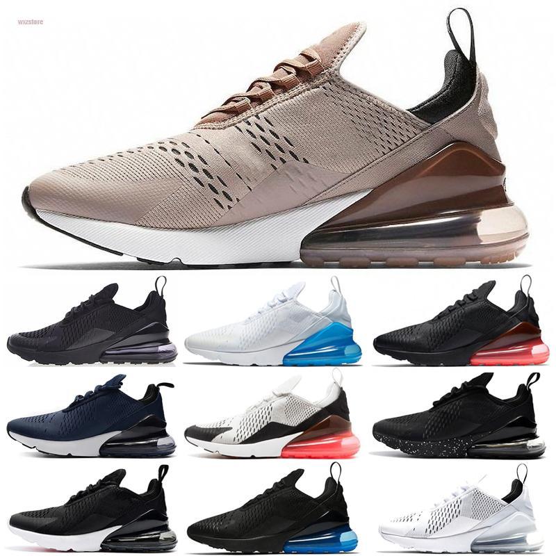 Nike air max 270 27c New chausse des espadrilles pour les femmes Courir Formateurs air Sport Sneaker Mode Hommes 27c Triple max Chaussures Blanc Noir