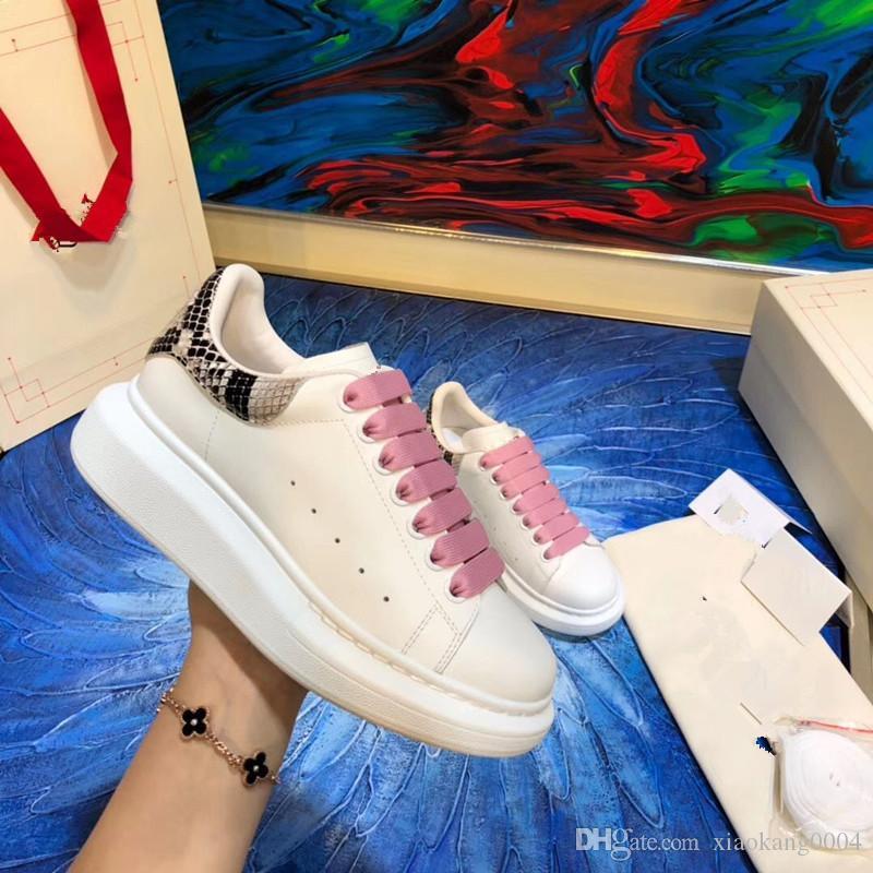 Meilleures ventes Mode Hommes Femmes Designer bandent Chaussures Classique cuir véritable chaussures de marque Casual yqw01