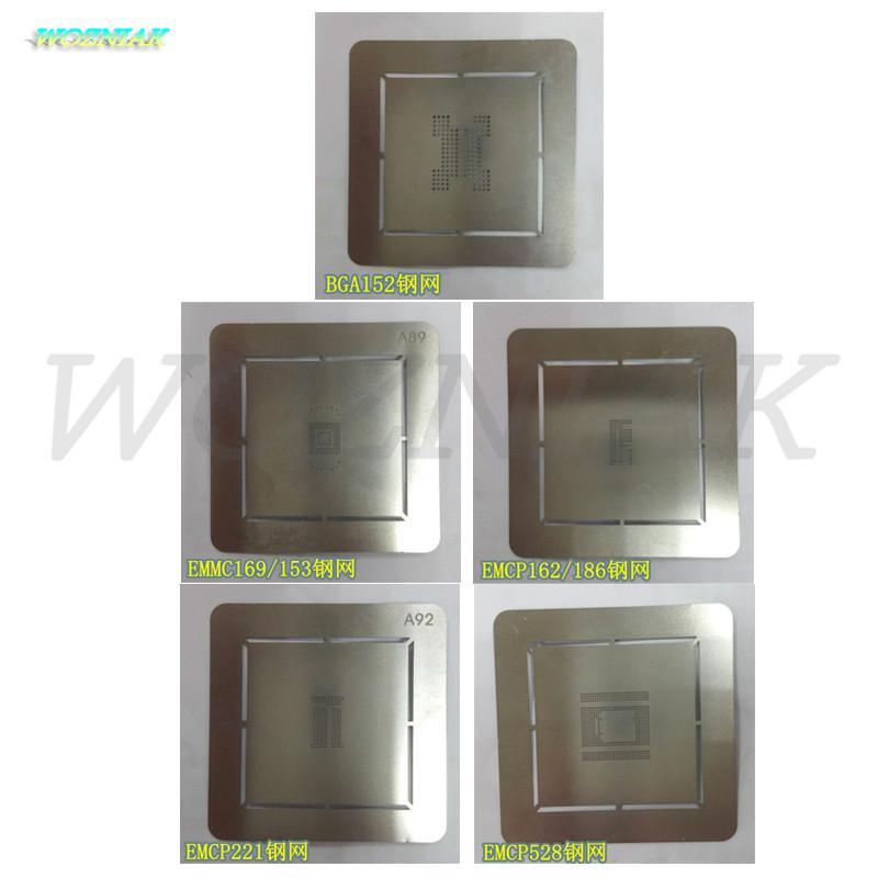 frete grátis para BGA24 emmc169 / 153 emcp162 / 186 221 529 BGA152 Tin malha Bola líquida reballing flash NAND estêncil malha