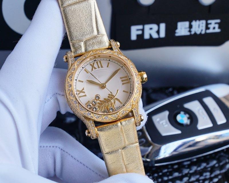 Las mujeres diamante relojes 9015 relojes del reloj de los hombres del reloj del partido Movimiento automático de 36 mm correa de cuero de regalo muy lejos