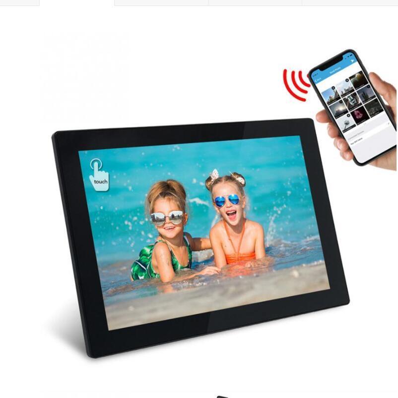 10.1 بوصة الصور الرقمية الإطار واي فاي 16GB إطار شبكة الذاكرة سحابة الألبوم مع LCD تعمل باللمس صور فيديو الصور الرقمية