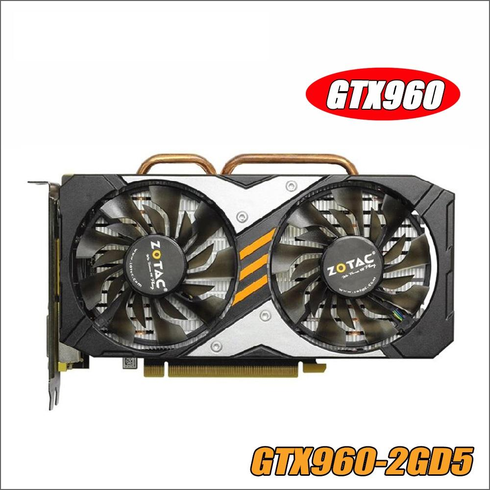 Video Card GTX 960 2GB 128Bit GDDR5 GM206 Graphics Cards GPU PCI-E For NVIDIA GeForce GTX960 2G 1050ti 750 1050 ti gtx750