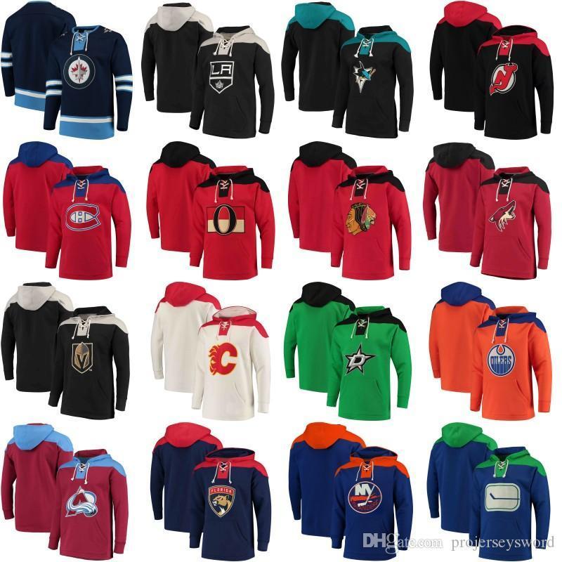 2018 New Style Hoodies Jersey Vegas Golden Knights Chicago Blackhawks Edmonton Oilers Montreal Canadiens Toronto Maple Leafs Hockey Jerseys