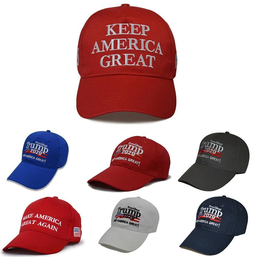 8 Styles Camouflage Casquettes de base-ball Trump 2020 Election Hats Faire Amérique Grande Encore une fois Casquettes brodées Zza2121 # 598