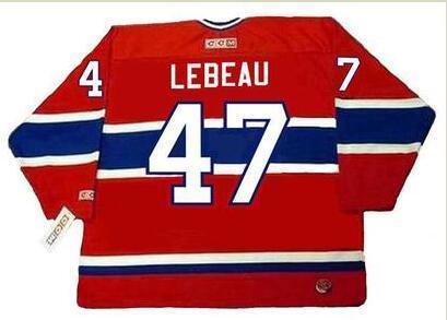 mulheres costume Homens Jovens Vintage Nº 47 STEPHAN LEBEAU Montreal Canadiens 1990 1993 CCM Hockey Jersey tamanho S-5XL ou personalizado qualquer nome ou número