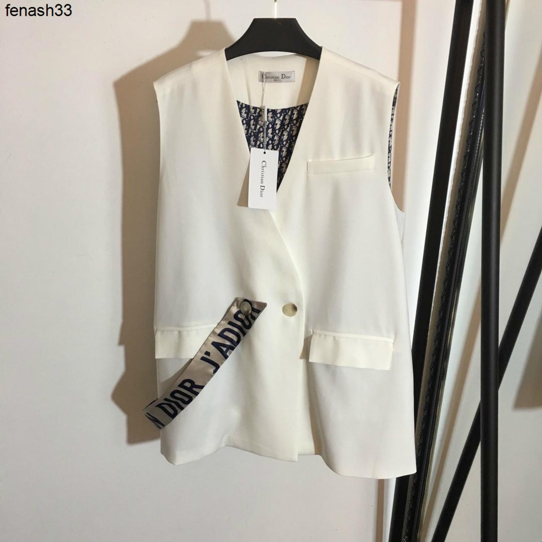 2020 мода новый одна кнопка съемный шелковый шарф с внутренней печатью Западный жилет костюм пальто 040511