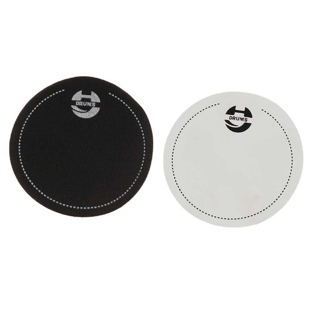 2pcs Bass Drum Head Pad Patch impact protecteur pour Drumhead parties de batterie