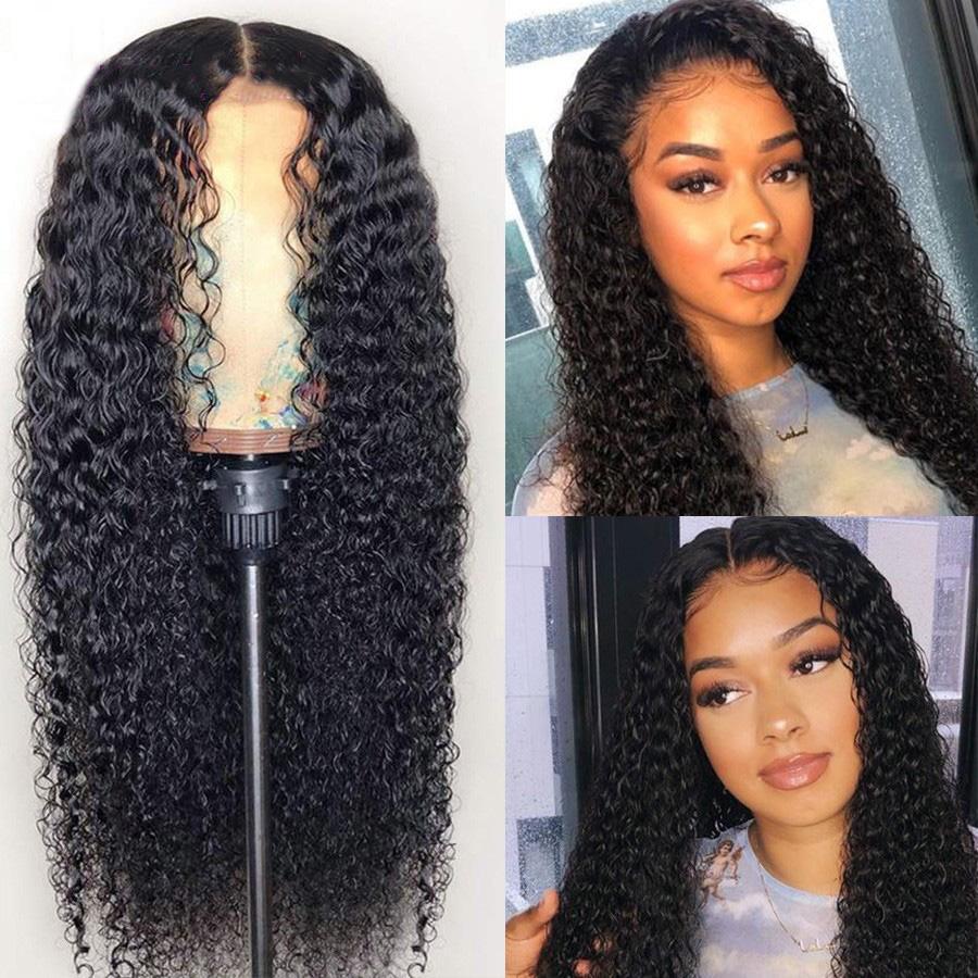 13 * 6 as Frontal perruques aux cheveux de bébé pleine naturel perruques de cheveux humains noirs Brésiliennes naturel lâche bouclés avant de dentelle perruque densité de 180%