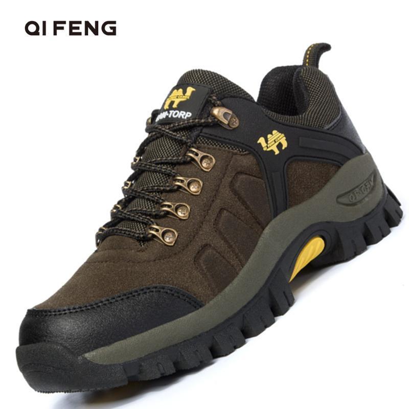 Caminhadas de Inverno sapatos masculinos confortável Walkng Botas Casal ao ar livre Mulheres Calçado clássico Outdoor Sneakers de montanha Trekking