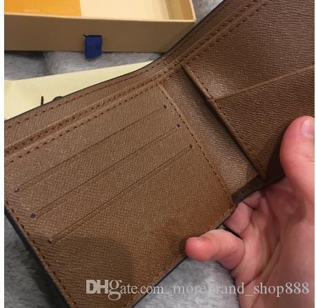 2020 di alta qualità Parigi plaid in pelle in stile mens portafoglio breve famosi uomini raccoglitore speciale multipla piccolo portafoglio corto con box