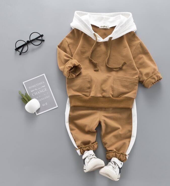 Nova primavera e outono 2020 tendência de terno de duas peças para crianças de 1-4 anos de idade bebê girafa dos desenhos animados de manga comprida calças