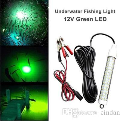 12 В 120LED 1000Lumens приманки приманки 10 Вт ночная рыбалка Искатель лампы свет затеняет рыбалка LED лодка рыбалка глубокое падение подводный свет