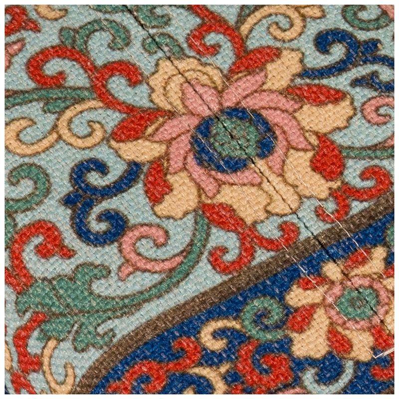 Hot Sale Facial Tissue Box Cover Portable Napkin Box Cotton Linen for Car Floral Pattern 9.4x6.6in Photo Color