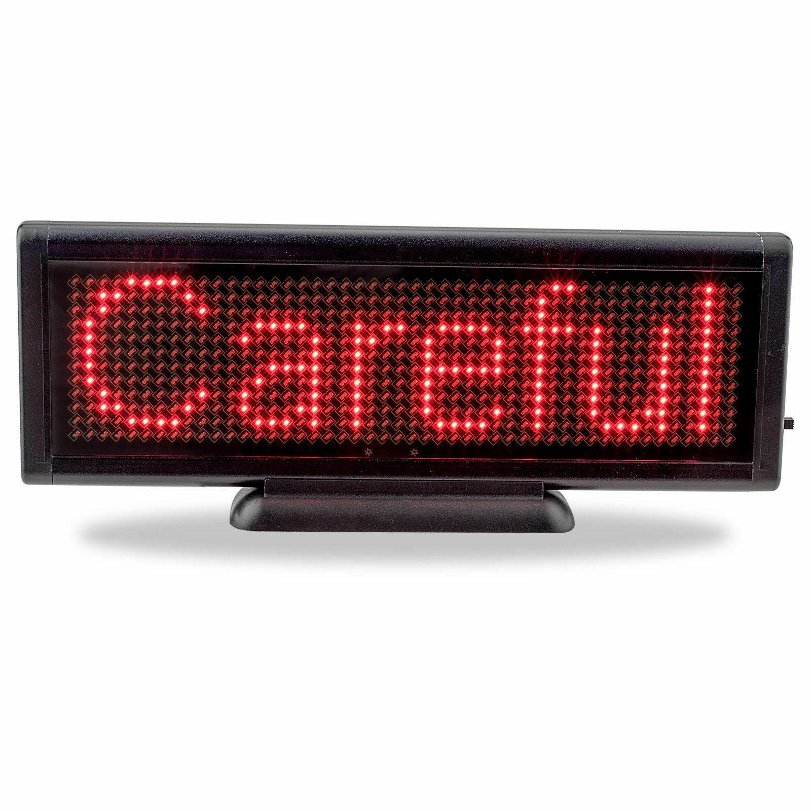 2020 Nueva caliente 8,6 x 3 pulgadas de pantalla LED Junta USB sesión programable mensaje de desplazamiento de negocios