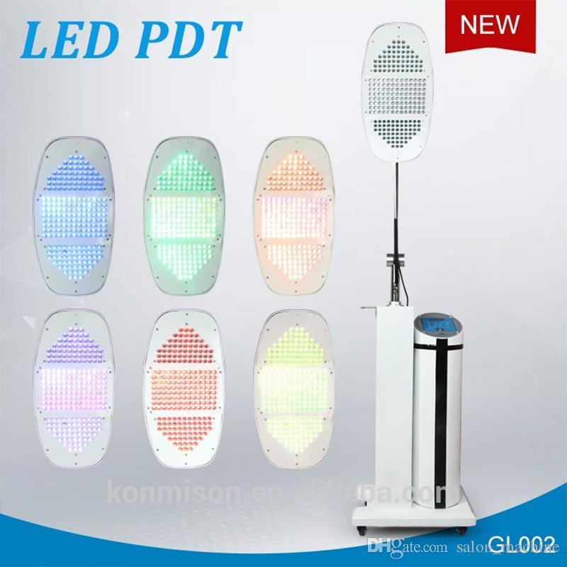2019 LED pdt bio-terapia della luce led terapia con 7 diversi colori HA CONDOTTO LA Luce bio-terapia della luce acne trattamento pdt macchina