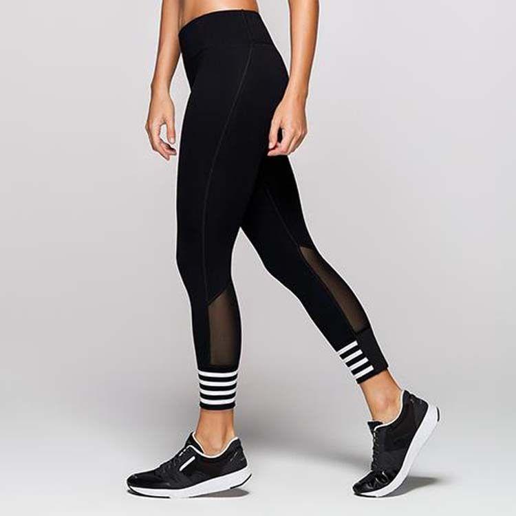 Hız Kuru Lady Spor Pantolon Sıkı pantolon Kadın Yoga Pantolon Kadın Spor Yansıtıcı Gece Running Suit