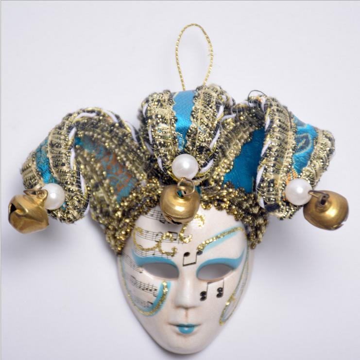 2020 Halloween Big Size Máscara 10CM Veneza rainha Presentes Imã Kid etiqueta magnética Imãs