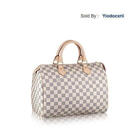 yiodocxrii 2EDG Classic White Speedy30 Handbag Canvas Leather N41370 Totes Handbags Shoulder Bags Backpacks Wallets Purse