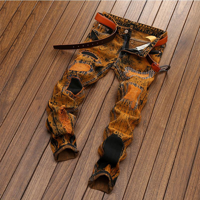Jeans de alta qualidade vintage 2019 New Desing Homens magros Hip Hop Ripped Jeans Hetero Casual Denim Plus Size 28-42