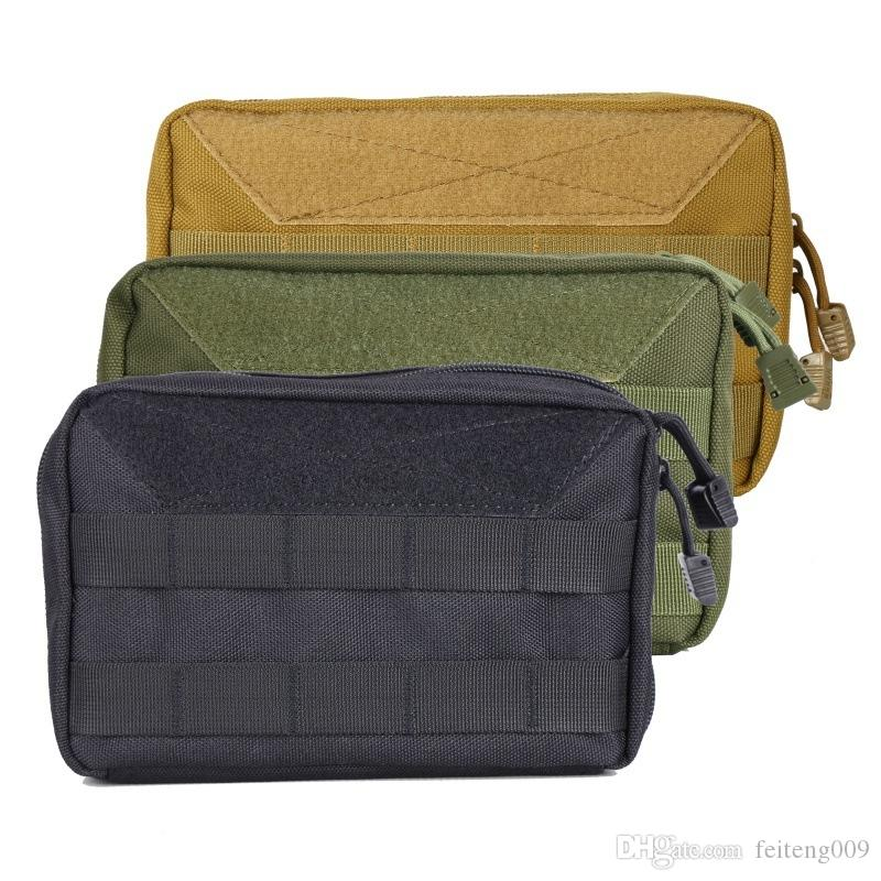 Outdoor Camping Pack Tactical Attendance Medical Emergency EDC Toolkit Map Tricolor Wearable Bag #664535