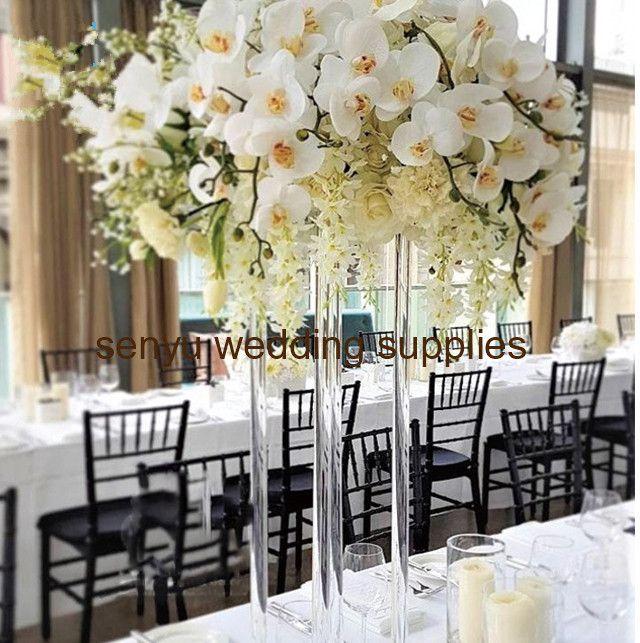 60cm/150cm tall can choose )Wedding clear Color Flower Column Stand for Wedding Table Centerpiece Decoration Floral Arrangement Decor 144