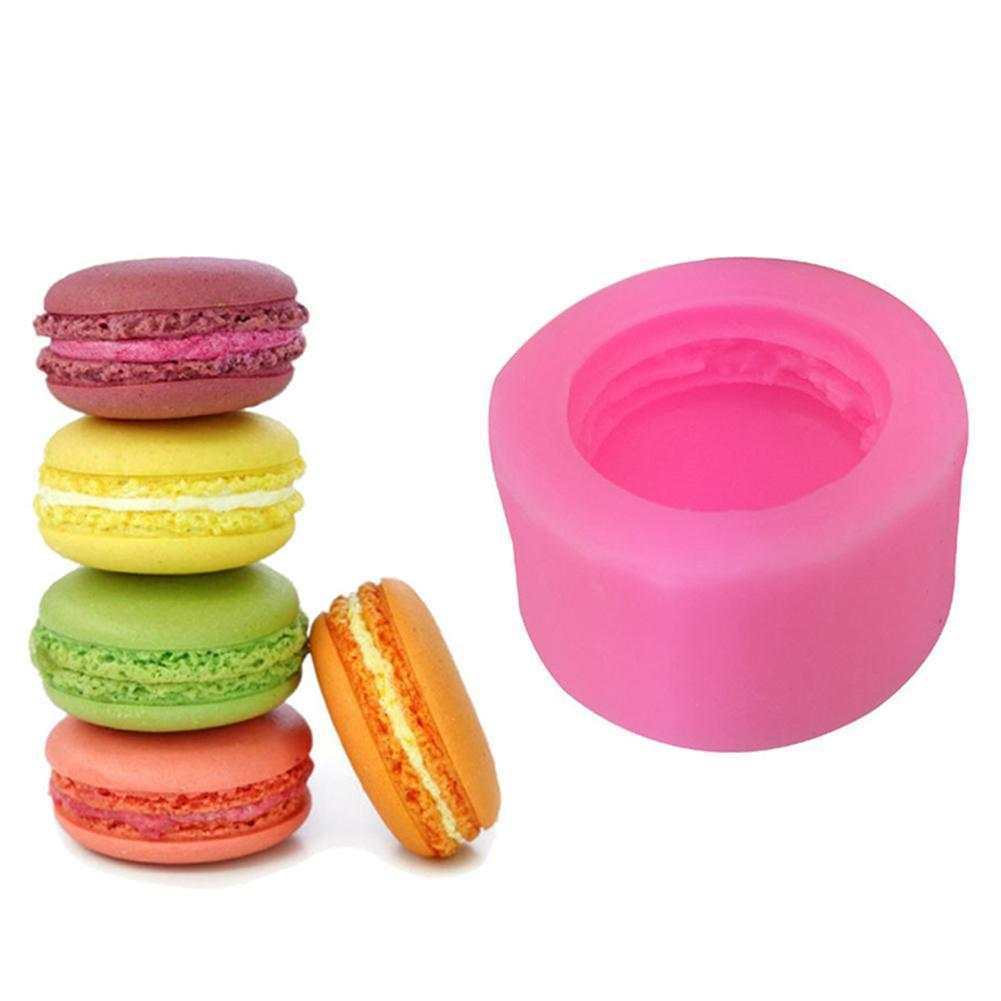 3D Stereo Mould Macaron Style Silicone Mold DIY Handmade Soap Candle Breads Fondant Jelly Chocolate Molds Cake Decoration Mould