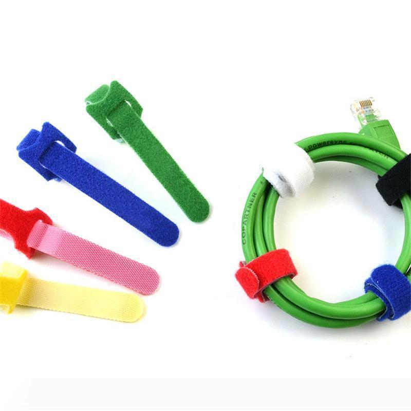 A Colorful Practical Cable Ties Nylon Strap Power Wire Management nylon hook loop fastener Nylon Reusable Cable Ties