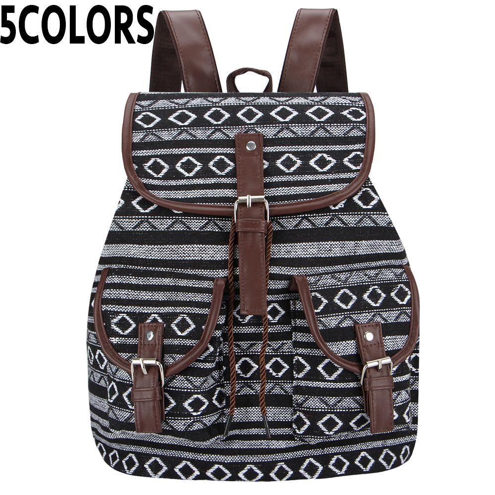Sansarya новый 2018 тайский тканый винтажный рюкзак ацтеков индийских женщин рюкзак богемный бохо рюкзак на шнурке хиппи школьные сумки Y190627