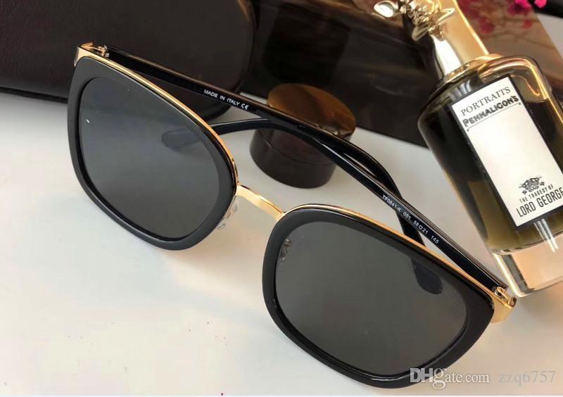 Nuevo diseñador de moda gafas de sol con montura cuadrada estilo simple y generoso al aire libre uv 400 gafas de protección de calidad superior con caja original 0641