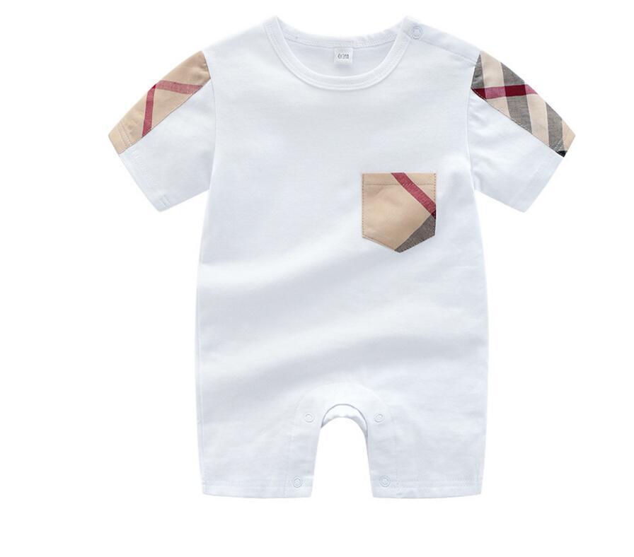 горячая 2020 розничная лето новорожденный мальчик roupa de bebe новорожденный комбинезон с коротким рукавом хлопок пижамы комбинезон девочка одежда