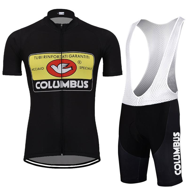 NEW رجال سوداء عدة ركوب الدراجات جيرسي ريترو ركوب قصيرة الأكمام مجموعات الدراجات ارتداء الملابس السروال ليكرا يمكن