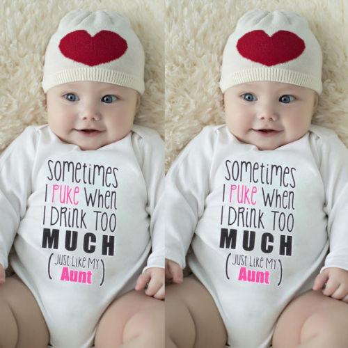2019 Marque Nouveau Nouveau-né bébé Enfants Bébés filles garçons Bodys Lettre à manches longues en coton blanc Imprimer Automne Tenues Salopette