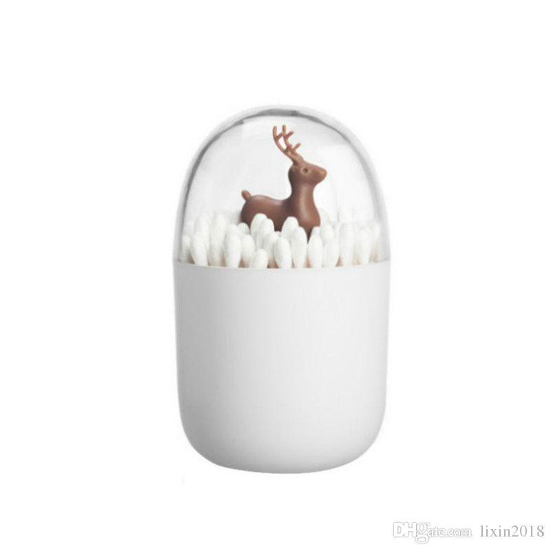Bianco Toothpick Box Nordic Style creativa del salone della casa Cotton fioc Box portatile Mini Carino Portastuzzicadenti dell'organizzatore di immagazzinaggio
