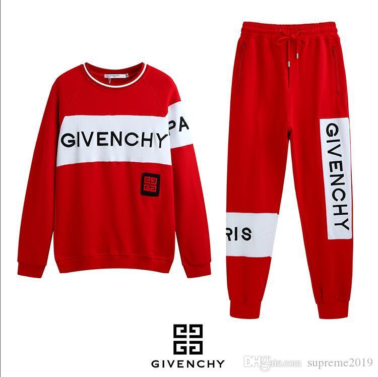2019 Erkek Givenchy Marka Eşofman Spor ve eğlence takım elbise erkek erkek yeni gündelik giyim 2019 erkek ilkbahar ve sonbahar ilkbahar ...