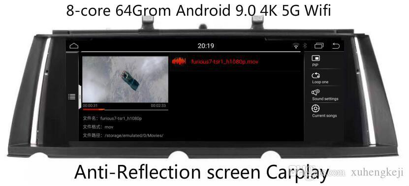 "DSP Carplay 8core 4G 64Grom 10.25"" Android 9.0 Car Monitor for BMW 7 Series F01 F02 Stereo Radio Vedio Audio GPSNavi Media Headunit Stereo"