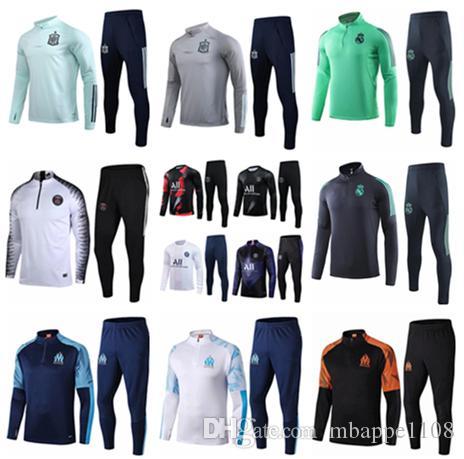 19 20 مرسيليا الرجال تدريب كرة القدم رياضية ريال مدريد لكرة القدم تدريب دعوى 2019 2020 باريس MBAPPE survetement دي القدم chandal الركض