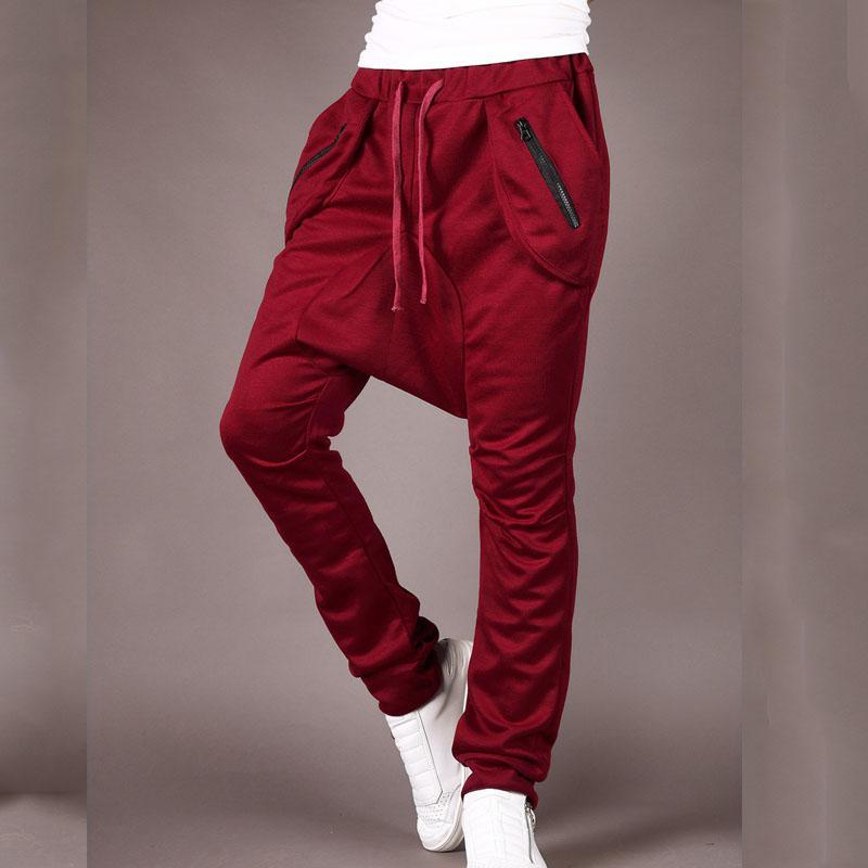 Top qualité 2019 Fashion Casual hommes de hip-hop lâche sérail streetwear pantalon entrejambe bas poche à fermeture éclair pantalones hombre