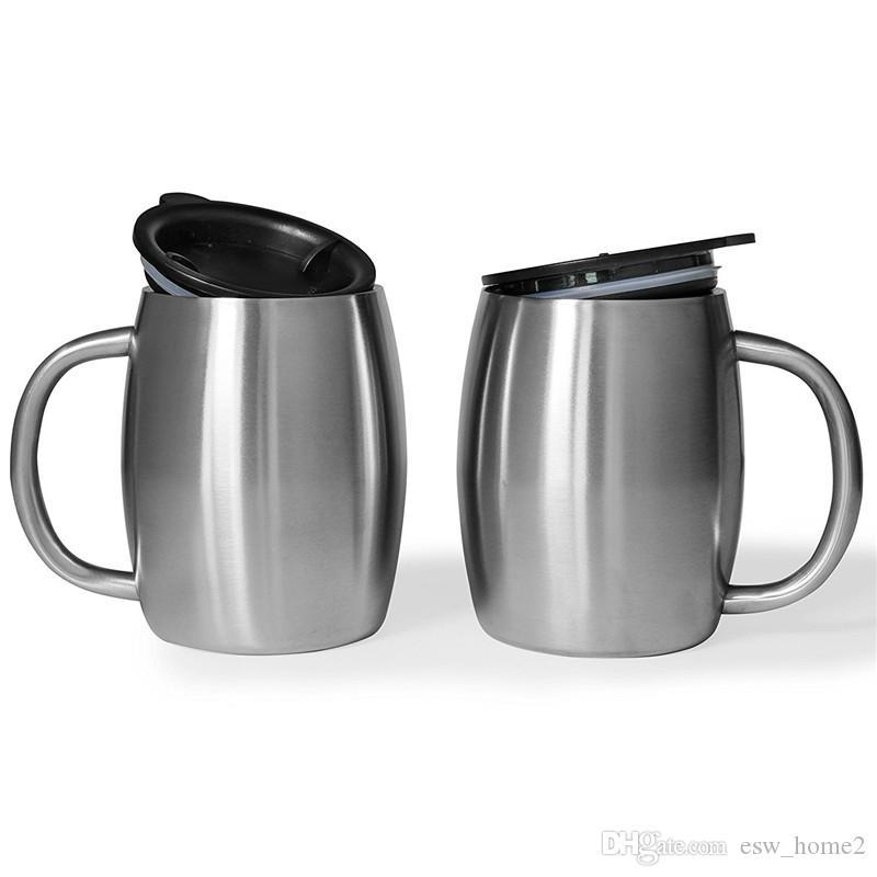 Tazza di caffè in acciaio inox Tazza di birra a doppia parete Tazza di acqua in viaggio all'aperto Camping Sport tazze per bar a casa 400ml