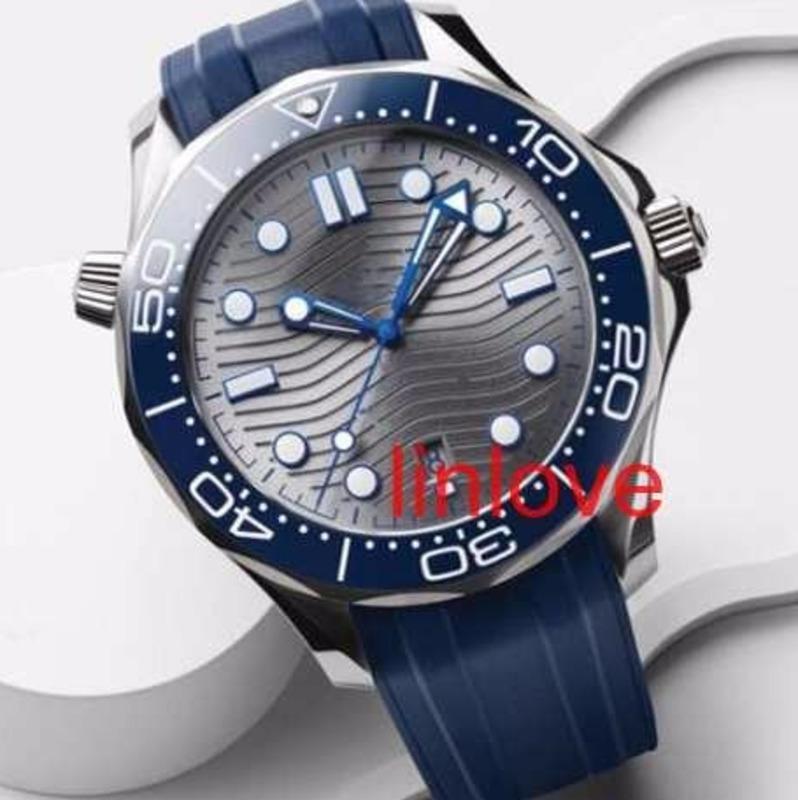 럭셔리 남자의 손목 시계 300 마스터 자동 기계 스틸 스트랩 망 시계 한정판 스포츠 시계 손목 시계