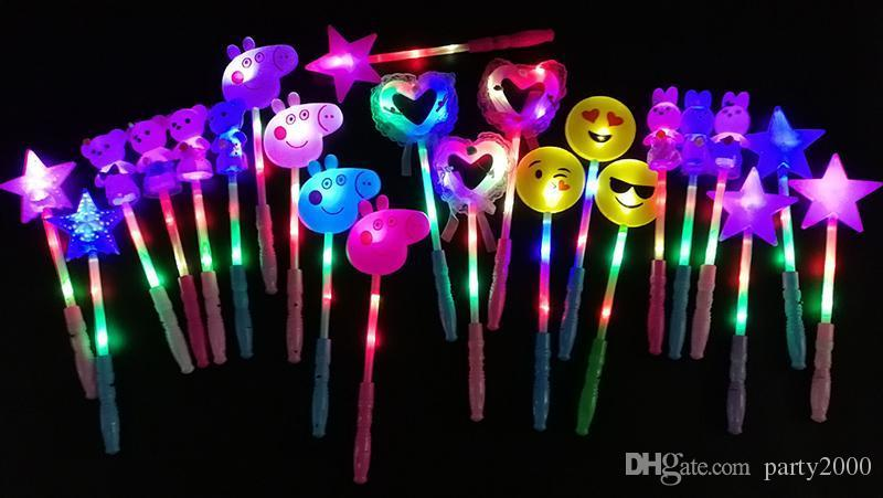 LED flashing light up sticks glowing rose star heart magic wands party night activities Concert carnivals Props birthday Favor kids toys