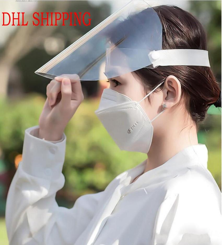 24 Hours DHL Ship Transparent Protective mask full face Anti-fog protective masks cooking oil splash dust face mask rainy riding face cover