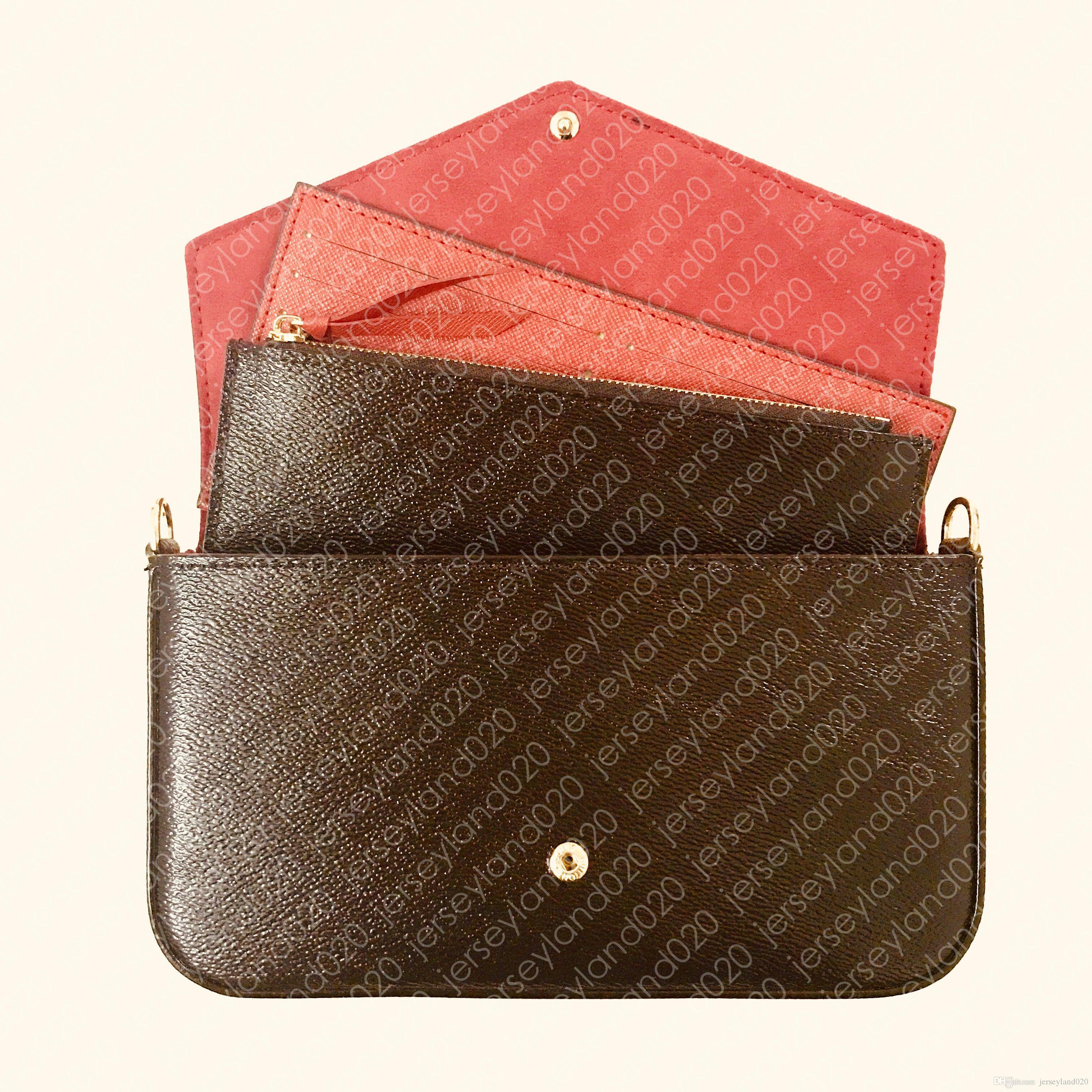 M61276 pochette felicie إمرأة مصمم الأزياء سلسلة محفظة حقيبة يد مساء مخلب الكتف حمل حقيبة محفظة مفتاح الحقيبة pochette الملحقات