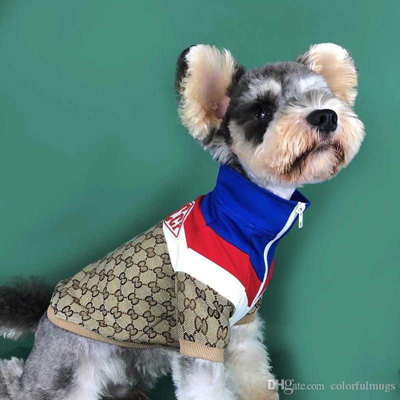 Açık Pet Köpek Giyim Moda Letter Sonbahar Köpek Kapüşonlular Teddy Schnauzer Smalle Köpek Palto Pet Malzemeleri