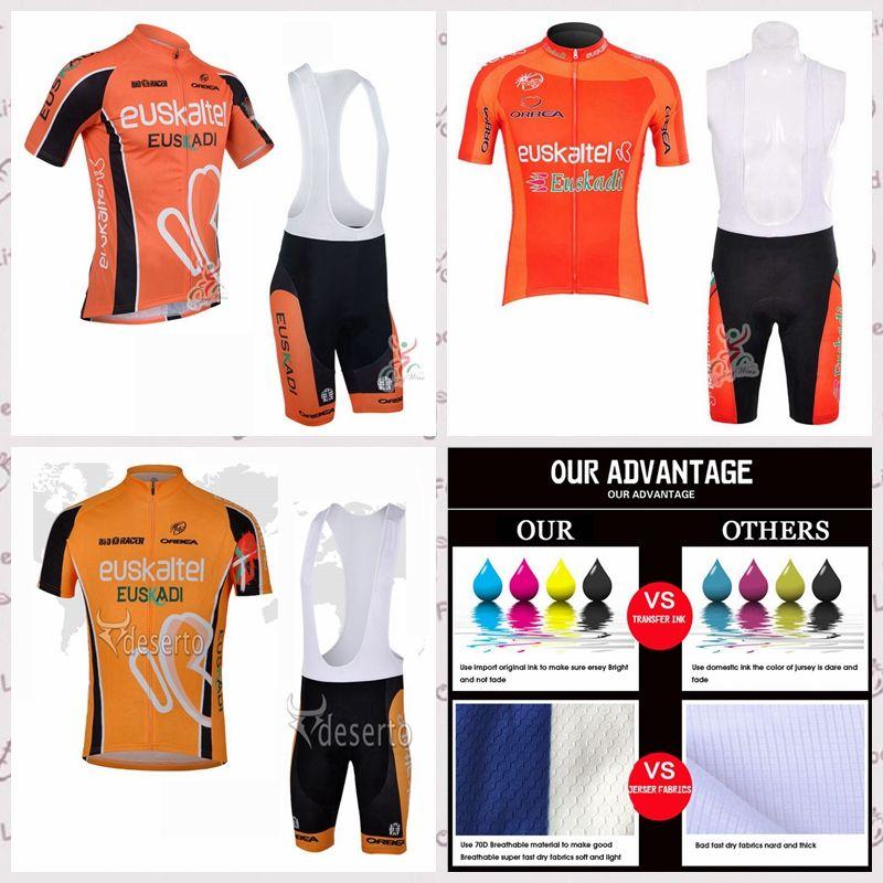 EUSKALTEL team summer Short Sleeve Cycling Jersey Bib shorts Sets Mountain Bike Clothes Breathable Ropa Ciclismo sportwear A6170