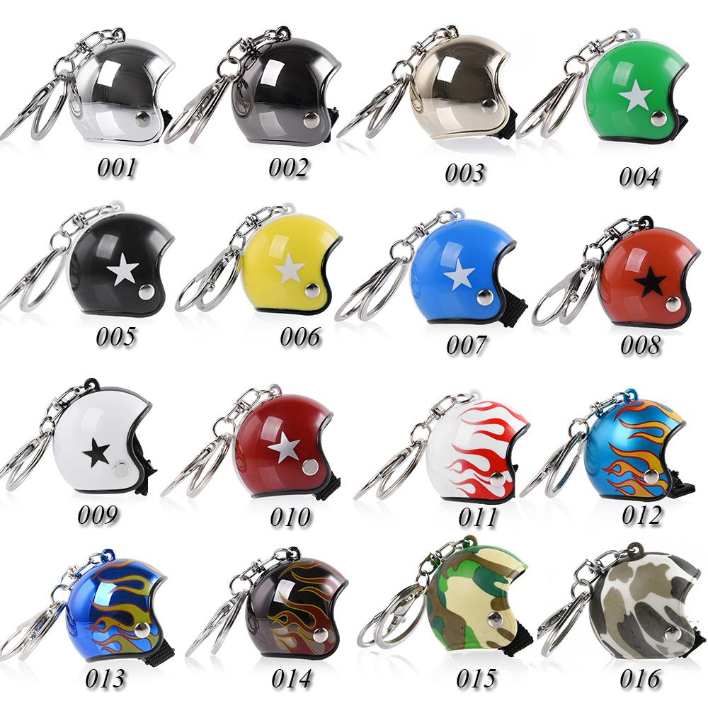 Hot Item Fashion Motorcycle Helmets Key chain Pendant Classic Keyring Cute Safety Helmet Knight Car Keychain for Men and Women Gift
