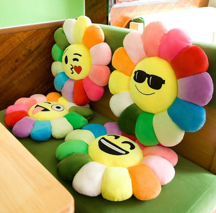 40 см красочные солнце цветок лепесток плюшевые игрушки подушка кукла кукла QQ выражение талии назад кукла наволочка игрушки дети подарок