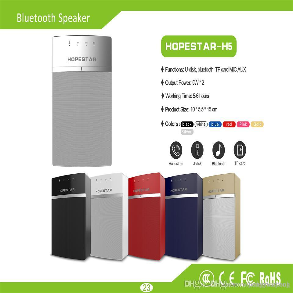 New factory direct private film HOPESTAR-H5 creative Bluetooth audio portable HD sound quality gifwireless audio portable portable touch TWS
