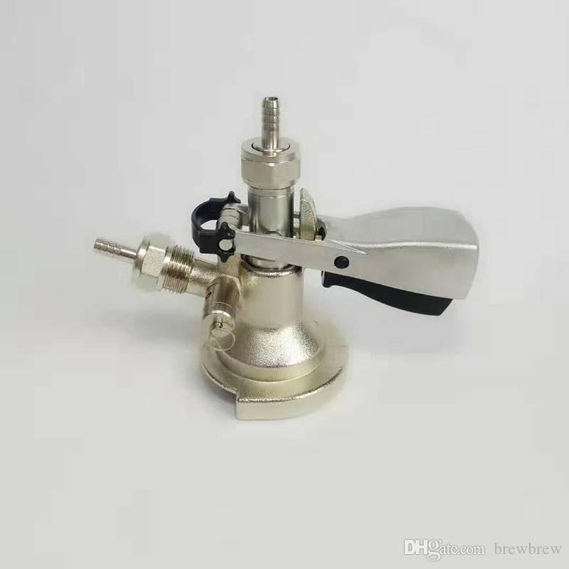 Accoppiatore di fusti di sistema, testa di fusti con valvola limitatrice di pressione per distributore di birra, accessori per fusti di birra.