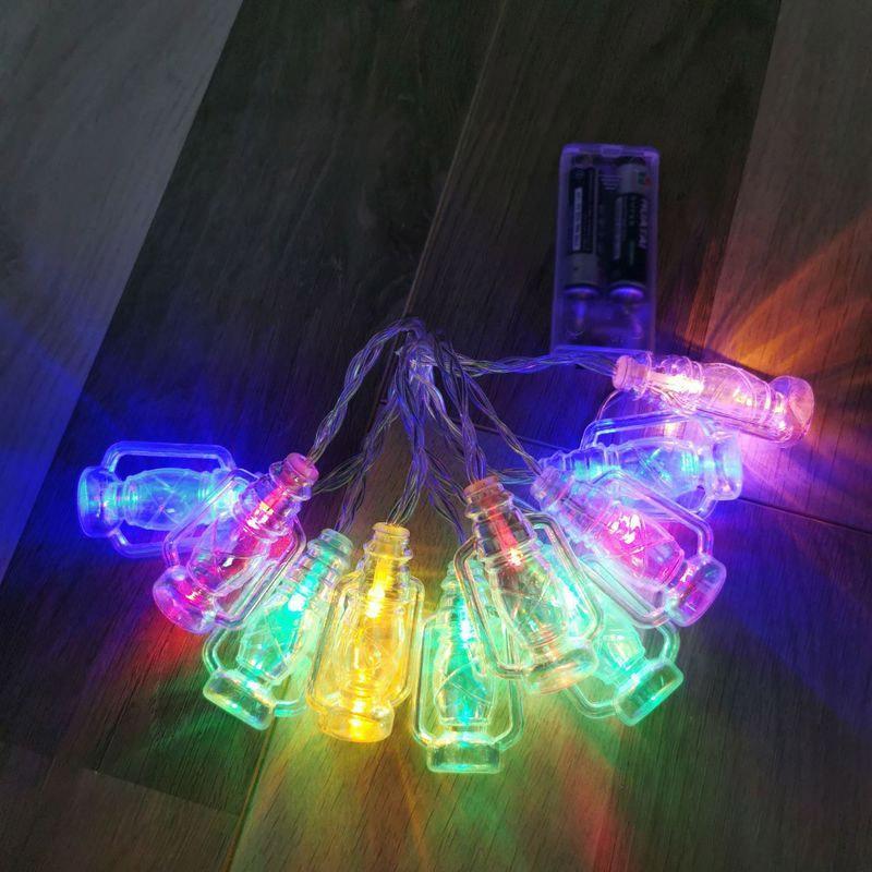 BRELONG는 화려한 복고풍 등유 램프 문자열 할로윈 크리스마스 장식 작은 랜턴 따뜻한 화이트 / 멀티 컬러 1 개를 LED